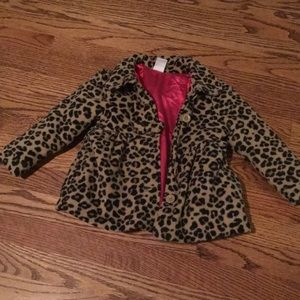 Other - Leopard fleece coat
